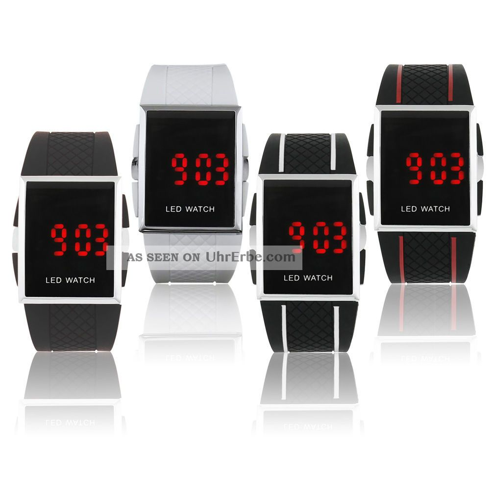 Led Digital Armbanduhr Watch Herren Damen Kinder Sport