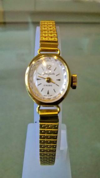 Allerfeinste Glashütte Damen Armbanduhr,  Vergoldet Bild