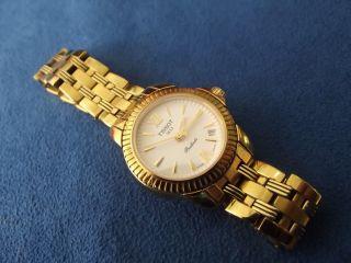 Elegante Tissot Ballade Damenuhr Damen Armbanduhr Edelstahl Vergoldet Edel 1037 Bild