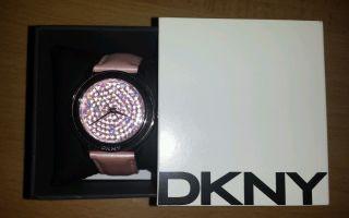 Dkny Donna Karan Ny8476 Damenuhr Echt Leder 100 Authentic,  Rosa Bild