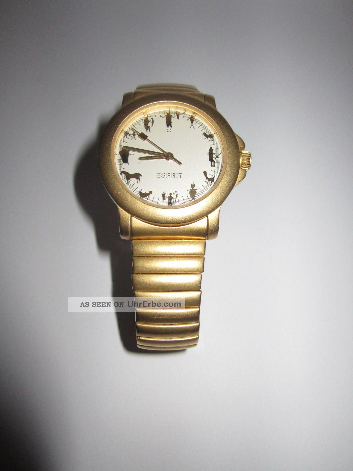 Uhr Esprit Armband Vario Damenuhr Metall Gold Sternzeichen Matt 34LqAjSc5R