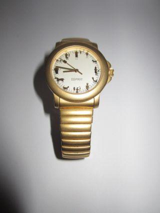 Esprit Uhr Damenuhr Vario Metall Armband Matt Gold Sternzeichen Bild