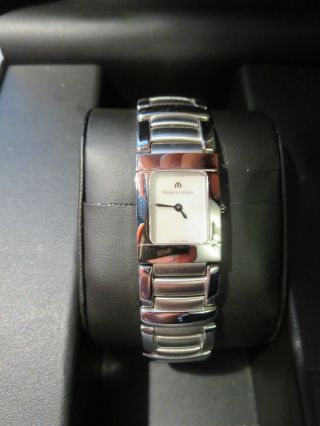 Maurice Lacroix Miros Damen Edelstahl Perlmutt Armbanduhr Uhr Uvp 995€ Ovp Bild