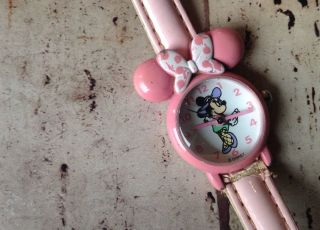 Retro Vintage 4tlg.  Mickey Minnie Disney Armband Uhr Look Bild