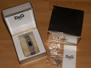 D & G Damen Uhr Swarovski Strass Ovp Dolce & Gabbana Bild