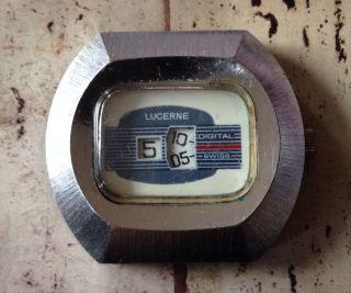 Vintage Lucerne Armband Uhr Gesicht Look Bild