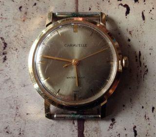 Vintage Caravelle Armband Uhr Gesicht Look Bild