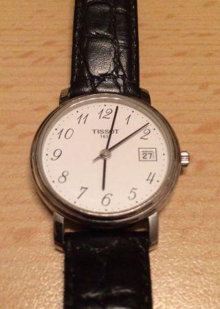Schweizer Uhr,  Damenuhr - Tissot City,  Weiß/,  Lederarmband Bild