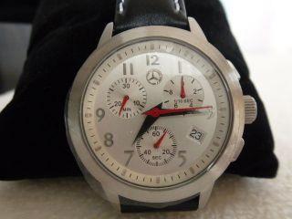 Armbanduhr Mercedes Benz Schmuckschatulle Schwarzes Lederarmband Bild
