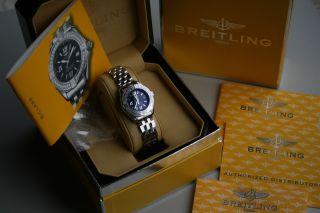 Breitling B - Class Mit Box Und Allen Papieren Im Bild