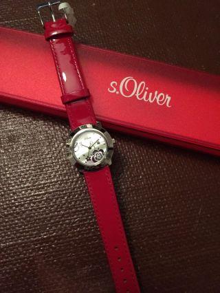 Armbanduhr Von S.  Oliver In Rot,  Originalverpackt Bild