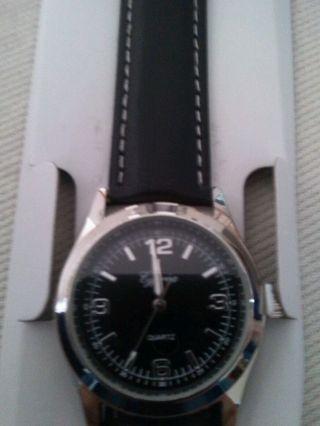 Cyprea Uhr Armbanduhr Damenuhr Herrenuhr Lederarmband Uhrenarmband Schwarz Bild