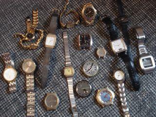 Uhren Sammlung 18 Uhren Für Bastler U.  Sammler (anker,  Casio,  Rigi,  Swatch Usw Bild