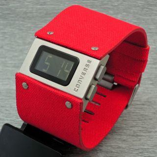 Damenuhr Herrenuhr Converse Ace Vr012 - 650 Quarz Digital Quarzuhr Armbanduhr Rot Bild