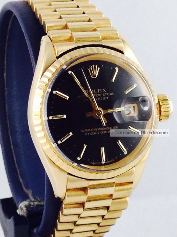 rolex lady datejust 26mm 18kt gold ref 6517 damen uhr. Black Bedroom Furniture Sets. Home Design Ideas