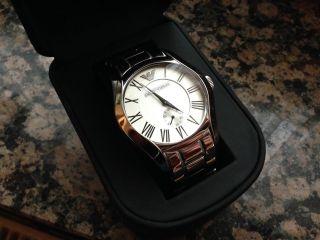 Emporio Armani Herren - Armbanduhr Ar0647 Analog Quarz Edelstahl Silber Bild