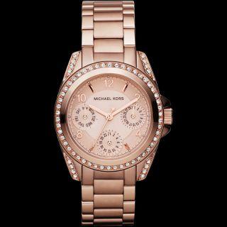 Michael Kors Mk5613 Armbanduhr Damen Rosé Gold Topzustand Bild