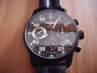 Pilot Berkut Poljot 31681 Russian Mechanical Aviator ' S Watch Saphirglas Bild