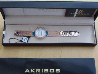 Weihnachten: Damenuhr Akribos Xxiv Lady Diamond Quartz Multifunktion Ovp Bild