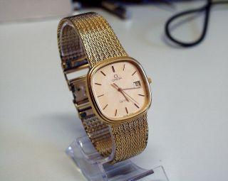 Servicesierte - Vergoldete - Omega - De Ville - Herren/damen - Uhr Mit Datum Bild