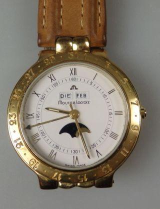 Maurice Lacroix Swiss Made Armbanduhr Damenuhr Mit Mondphase Bild