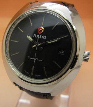 Rado Companion Glasboden Mechanische Uhr 25 Jewels Datumanzeige Lumi Zeiger Bild