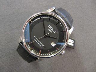 Tissot T - Classic Luxury Automatik Powermatic 80 Chronometer Stahl Leder 41mm Bild