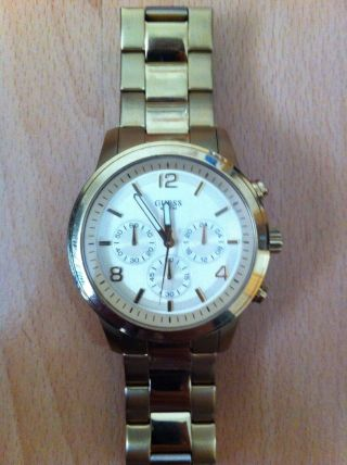Guess Uhr W14043l1 Spectrum Chronograph Damenuhr Gold Bild