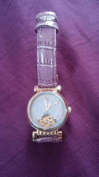 Damen Uhr Cacalla Gold Zart Lila,  Selten Bild