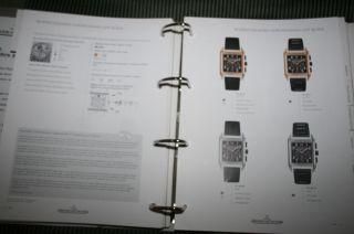 Jaeger - Lecoultre Ringordner Preisliste 2008,  2009,  2010 Katalog Arbeitsordner Uhr Bild