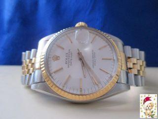 Herren Rolex Datejust In Stahl/gold Referenz: 16013 Bild