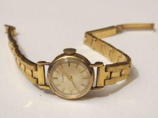 Sammler Edle Dugena Antik Damenuhr Handaufzug 50er Jahre Pfenniguhr Weihnachten Bild