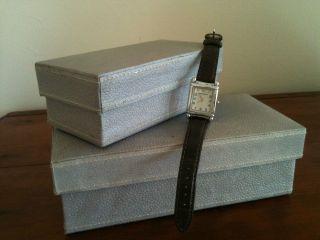 Emporio Armani Uhr Damen Armbanduhr Leder Silber Kroko Dunkelbraun Bild