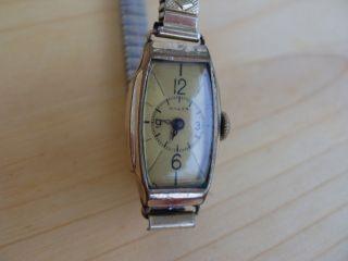 Anker Antik Vintage Damen Uhr Handaufzug 20 Mikron Uhr Geht Fixo - Flex - Armband Bild