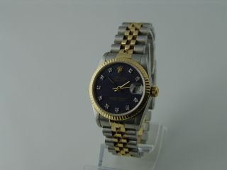 Rolex Datejust Medium Uhr Ref.  : 68273 Stahl / Gold Mit Brillanten 30mm Bild