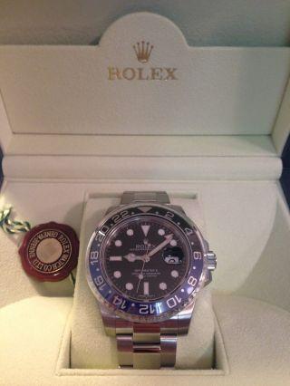 Rolex Gmt Master Ii.  Referenz: 116710blnr.  Mit Box Und Papieren Bild