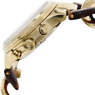 Michael Kors Mk4222 Armbanduhr Für Damen Gelbgold Tortoise Bild