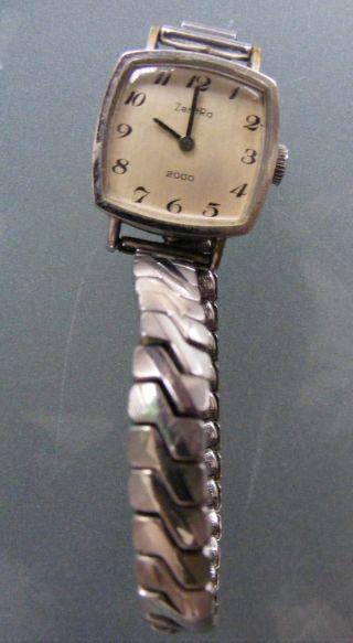 Damen / Dau Armbanduhr Edelstahl M.  Zugband Für Bastler,  Zentra Bild