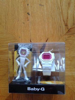 Casio Baby G Uhr Weiß Pink Sammleredition Rar Figur Limitiert Bild