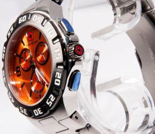 Swiss Military Hanowa Edelstahl Chronograph Chrono Uhr Orange Sm12867jstbbk Bild