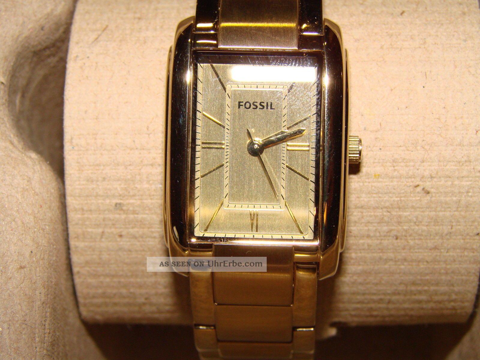 fossil damen armband uhr es 2985 adele m box gold r mische ziffern w. Black Bedroom Furniture Sets. Home Design Ideas