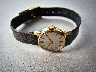 Goldene Rolex Damenuhr Mit Rolex - Box - 1950er Jahre Bild