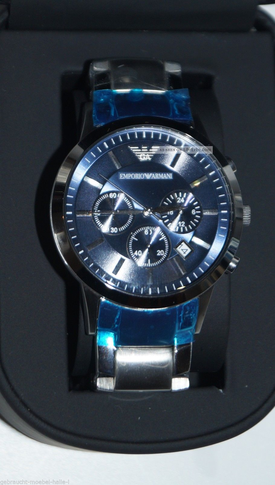 emporio armani herren armbanduhr ar2448 chronograph. Black Bedroom Furniture Sets. Home Design Ideas