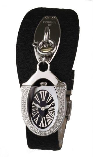 Cerruti 1881 Schmuck Damen Armband Uhr Leder Kette Charm Anhänger Icone Deluxe Bild