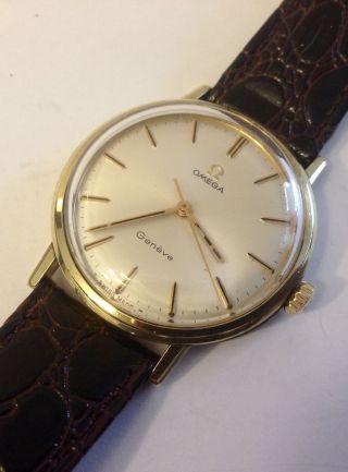 Omega Genève Handaufzug Aus Den 1960er Jahren Werk 601 SammlerstÜck Bild