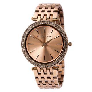 Michael Kors Mk3192 Damen Darci Rose Gold Ton Edelstahl Glitz Uhren Bild
