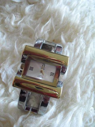 Spangen Uhr,  Armbanduhr,  Biecolor Mit Klappverschluss - Reinschauen Bild