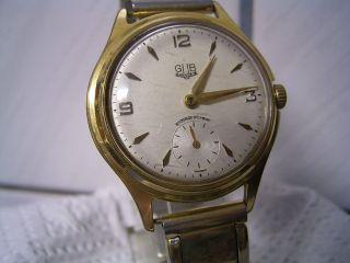 Glashütte Armbanduhr Mit Gub Kal 60 Schraubenunruhe Kleine Sekunde Bild