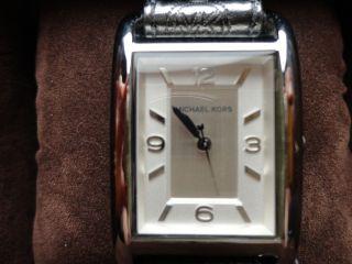 Michael Kors Damenuhr Uhr Lederarmband Ungewöhnlich Grau Bild