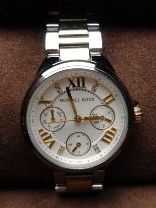 Michael Kors Damenuhr Uhr Silber Gold Ungewöhnlich Bild